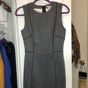 Grey professional tight fitting dress